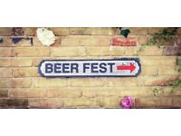 Brand New Vintage Rustic Style Beer Fest (with arrow) Large Hardwood Road Sign