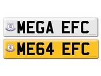 Personalised registration Private number plate MEGA EFC FOOTBALL