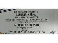 2 Sundara Karma tickets (28/09) bristol o2