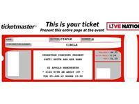 PATTI SMITH~MANCHESTER~O2 APOLLO~ROW E FRONT CIRCLE SEATS~100% TRUSTED SELLER