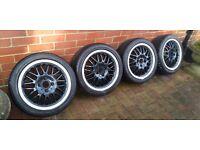 "15"" 4x100 Dotz mugello Alloy wheels & New Nankang NS2 tyres 195/45/15"