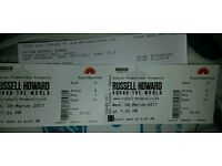 Russell Howard at Royal Albert hall London FRONT ROW FRONT ROW £100 PAIR OVNO