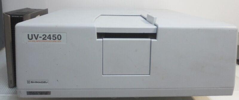 Lot of 2 Shimadzu UV-2450 Spectrophotometers with Computer UV Probe 2.42