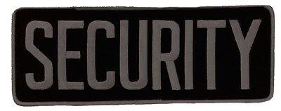 Large Security Back Patch Badge Emblem 11x4 Greyblack
