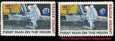 EFO #C76 Var. First Man on the Moon 10¢ Air Mail Color Shift MNH