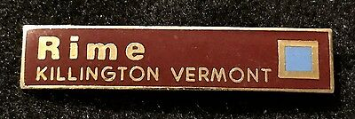 KILLINGTON RIME Skiing Ski Pin Badge VERMONT VT Resort Souvenir Travel Vintage