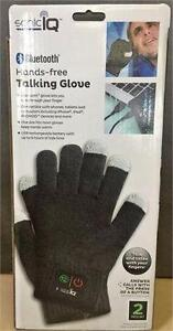 NEW, Sonic IQ Bluetooth Hands-free Talking Glove 2 Piece Set