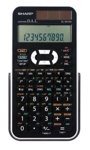 Calculatrice scientifique SHARP EL531XGBWHUne calculatrice scie