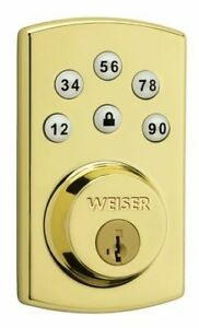 NEW : Weiser Powerbolt 2 Brass(NEW in sealed box) - Door Lock