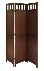 Winsome Wood 3-Panel Wood Folding Screen / Room divider