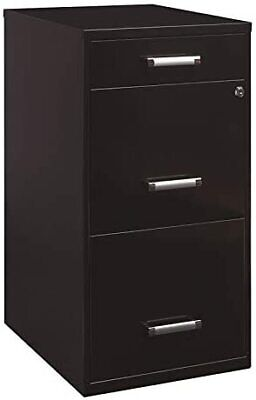Office Dimensions Deep 3 Drawer Metal Organizer File Cabinet With Oval Handles