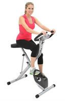 Exerpeutic 310 Space Saver Magnetic Upright Bike w/ Pulse Sensor