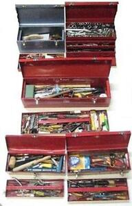 5 USED ASSTD TOOLBOXES W/ TOOLS