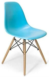 AEON Furniture AE6508  Chair, Blue Matte Finish - Set of 2 $185
