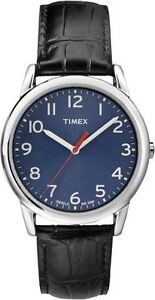 Brand new Timex Blue dial Easy reader watch genuine leather