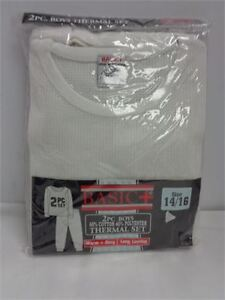 Boys 2 piece thermal set size 14/16 grey bnip only 5.00
