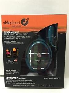 Able Planet XNC230G Extreme Foldable Noise Canceling Headphones (Green Plaid)