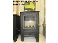 British made 5kw multi fuel stove by Villager top quality wood burner never used £399 RRP £679