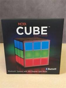 NEW, MOBI Cube Bluetooth Speaker with 360 Degree Light Show
