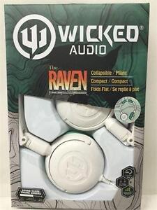 Wicked Audio Raven Headphones, WI-6003-CA White/ Teal