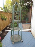 Industrial Age Etagiere , Commercial Display Stand , Jardiniere