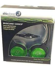 NEW GREEN ABLE PLANET MUSICIANS CHOICE STEREO HEADPHONE- SH180GRM