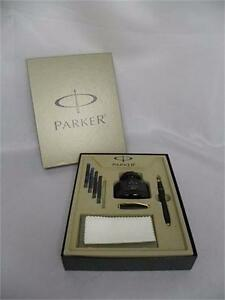 Parker Urban Matte Black with Fountain Pen and Accessories Kit (used, good)