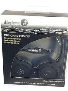 NEW BLACK ABLE PLANET MUSICIANS CHOICE STEREO HEADPHONE- SH180BM
