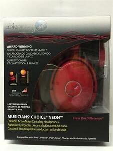 Able Planet Musicians' Choice NC180RDM Around the Ear ANC Headphones (Red)
