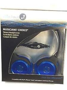 NEW BLUE ABLE PLANET MUSICIANS CHOICE STEREO HEADPHONE- SH180BLM