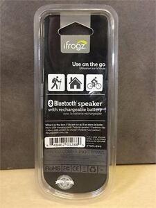 NEW, iFrogz Audio Tadpole Wireless Bluetooth Big Sound Mini Speaker-Black/White
