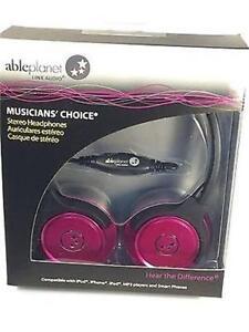 NEW PINK ABLE PLANET MUSICIANS CHOICE STEREO HEADPHONE- SH180PKM