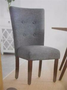 "NEW HOMETRENDS TUFTED DINING CHAIR   GREY MIX WITH ESPRESSO LEGS - 19""W X 23.5""D X 38.5""H KITCHEN SEATING 98594058"