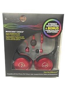 AblePlanet SH180RDM-SI170RD Stereo Headphones + Bonus Sound Isolation Earphones