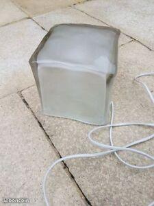 2 Lampes de chevet Ikea Cube glaçon