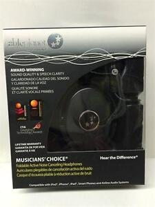 Able Planet Musicians' Choice NC180BMM Around the Ear ANC Headphones (BLACK)