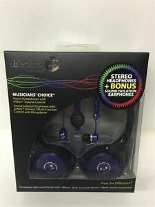 AblePlanet SH180PRM-SI170PR Stereo Headphones + Bonus Sound Isolation Earphones
