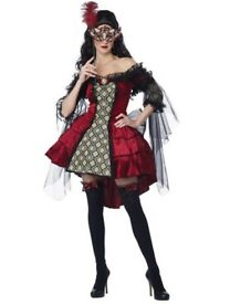 MYSTERIOUS MASQUERADE SIZE 12/14 FANCY DRESS OUTFIT WITH MASK GREAT FOR A PARTY OR HEN DO RRP £50