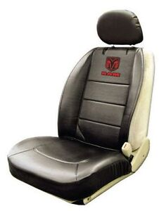 One New Dodge Ram Elite Black Front Sideless Seat Cover Syntheti