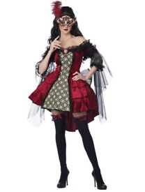 MYSTERIOUS MASQUERADE FANCY DRESS OUTFIT SIZE 14/16 RRP £50 comes with mask PARTY OR HEN DO
