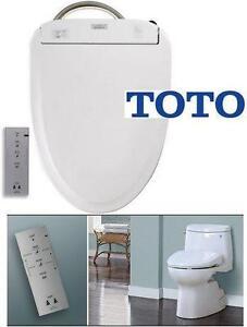 NEW OB TOTO EWATER+ TOILET SEAT WASHLET 350E - ELONGATED - COTTON - NIGHT LIGHT bidet home improvement