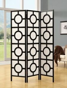 Two Folding Screens / Room Dividers by Monarch Specialties