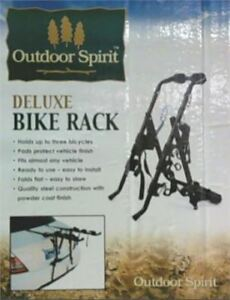 NEW 3 Bike Rack for Trunk and Hatchback Connection