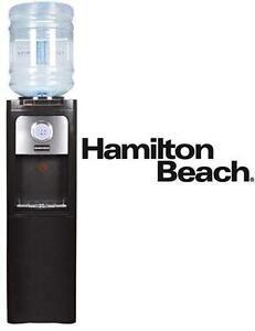 NEW HAMILTON BEACH WATER DISPENSER W/ STORAGE CABINET - BLACK TOP LOAD