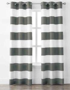 Modern striped curtains