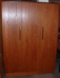 Vintage Retro G Plan Fresco mid century Teak Double Wardrobe excellent condition.