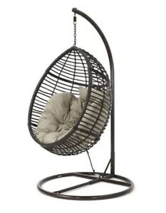 Rattan swing chair with stand, new