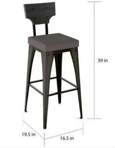 $175 Amisco Rally Metal Wood Counter Stool. Brand new.