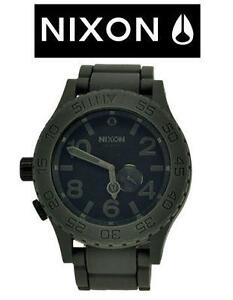 MEN'S NIXON RUBBER WATCH 51 - GREY / BLACK