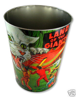 Land Of The Giants Metal  Wastebasket! Keychain & Patch / Spindrift Irwin Allen
